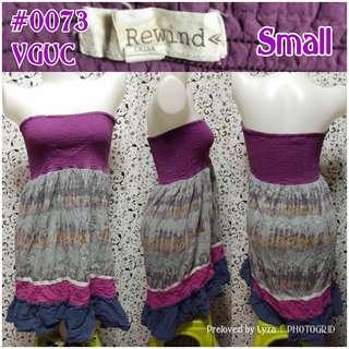 Purple tube dress