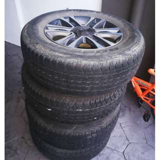 Used isuzu dmax oem 17inc rim & tire