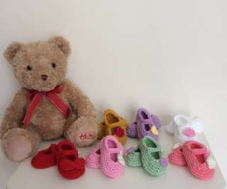 🌈Crochet Baby Shoes~Cute Mary Janes🍭