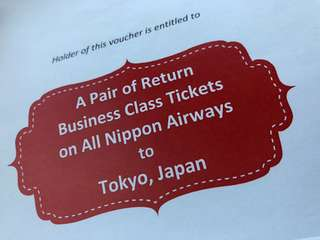 Business Class ANA Tickets to Tokyo (Pair)