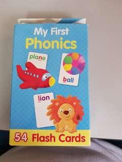 🚚 Phonics Flash Cards brand new