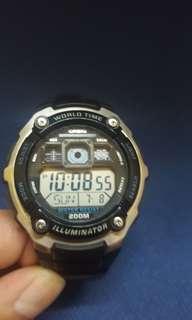 CASl0黑色200M計時跑步遊水行山啱晒
