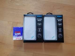 全新外置充電池1000mAh Power Bank尿袋 SIDO type-C & Micro USB 2-in-1 cable