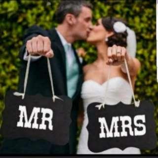 Mr & Mrs Thin Cardboard