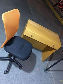 Japan Surplus Office Table with Swivel Chair