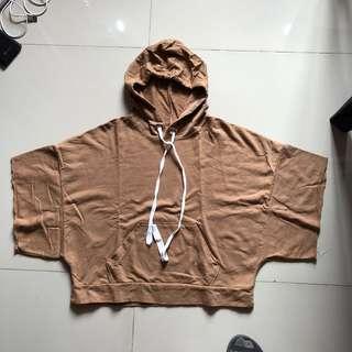 Brown cropped hoodie