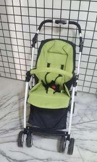 aiqi草綠色嬰兒推車