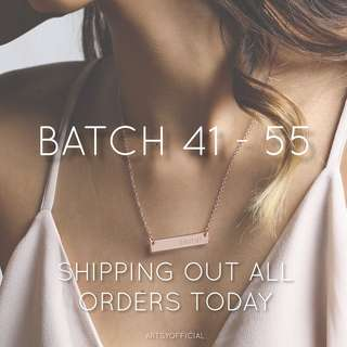 BATCH 41-55 | out for shipment ✨