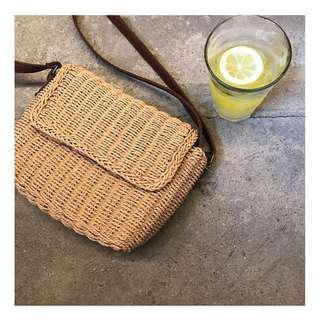 woven straw summer shoulder bag