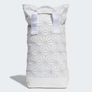 Adidas 3D top roll  backbag white Color 白色