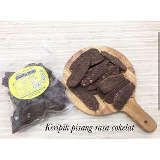 Keripik Pisang Lampung rasa Cokelat