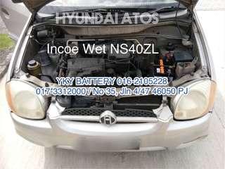 Kereta Bateri , Hyundai Atos , Incoe Wet NS40ZL