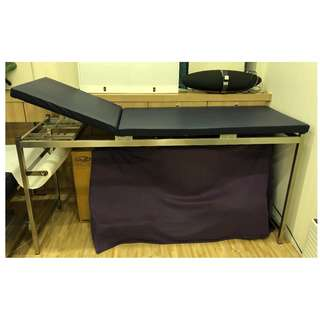 Stainless Steel Patient Examination Couch (Non-Motorised)