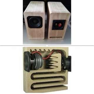 2.5寸全音域迷宮喇叭 發燒人聲膽機絕配 高16cm 喇叭功率20w,4ohm 2.5-inch full-range speaker Vacuum Tube Amplify perfect match Height 16cm Speaker power 20w, 4ohm