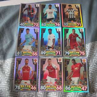 Match Attax Premier League 17/18 Pro 11 cards for sale (Lot of 9 cards)
