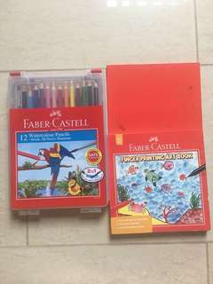 Faber Castell WaterColour Pencils & Finger Printing Art Book