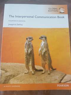 The Interpersonal Communication Book by Joseph A.DeVito-14th Edition