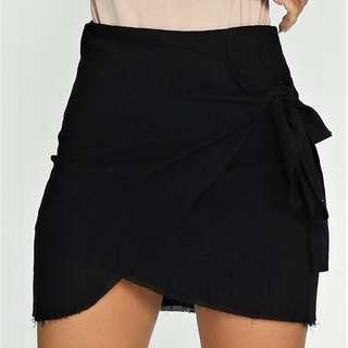 Black Wrap Skirt S10