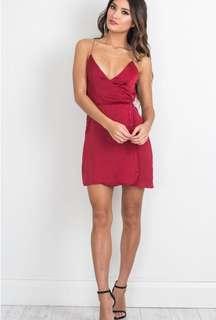 Showpo Red Slip Dress S8