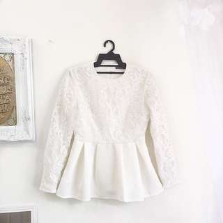 Poplook royal lace top