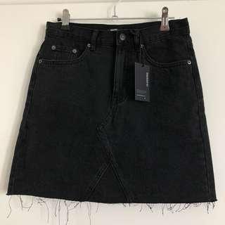BNWT Glassons Black Denim Skirt S10