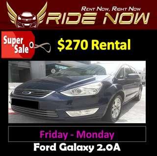 $270 Ford Galaxy 2.0A Weekend SALE