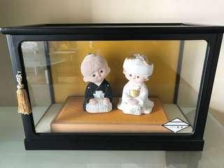 Japanese wedding couple dolls