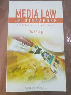Media Law in Singapore Student Edition by Teo Yi Ling