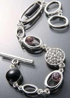 🚚 G型時尚銀飾手鍊