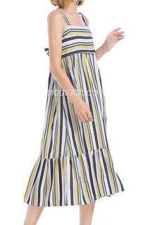 NC1050 Striped Ribbon Dress