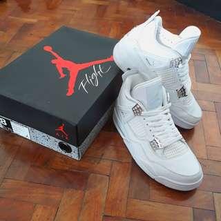 Jordan 4 All White Size 8US