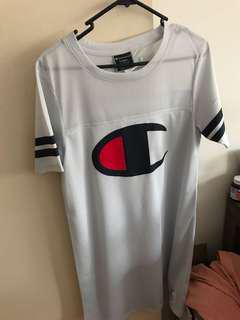 Champion oversized shirt dress