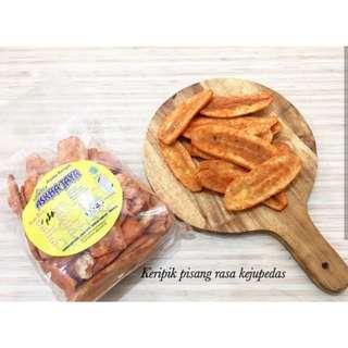 Keripik Pisang Lampung rasa Keju Pedas