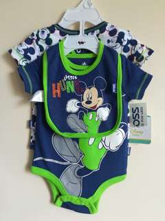 Disney Baby Mickey Mouse Bodysuits and Bib