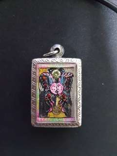 Kruba Krissana Butterfly With rahu Thai Amulet