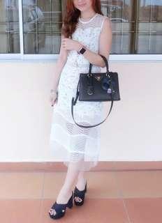 Premium Quality White Lace Dress*Free Postage*