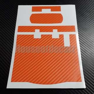 Iu unit Sticker Orange Carbon