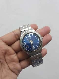 Authentic Swatch Swiss Irony Quartz Date