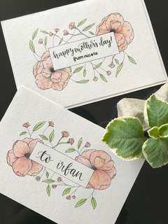 Customisable Watercolour Cards