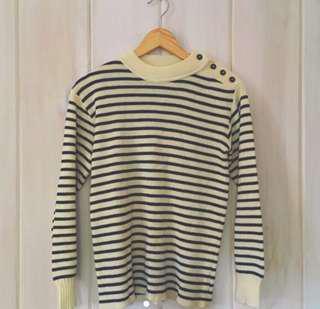 Nautical/Parisian Knit Sweater