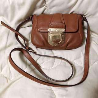 Michael Kors MK Leather Small Sling / Crossbody Bag