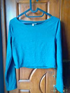 H&M Divided Green Crop Top