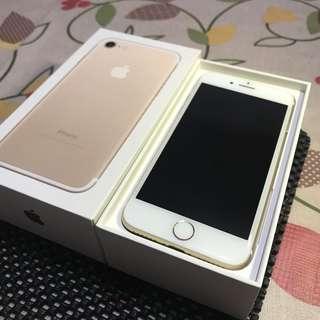二手 iphone 7 32g 金 降價售 單手機