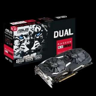 DUAL-RX580-8GASUS DUAL-RX580-8G GDDR5 DUAL FAN NON-OC (3Y)