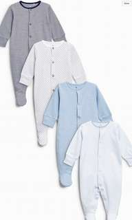 NEXT UK Sleepsuits 4packs