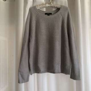 Forever 21 Gray Knit Sweater