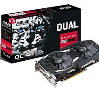 DUAL-RX580-O4GASUS DUAL-RX580-O4G 4GB GDDR5 DUAL FAN (3Y)