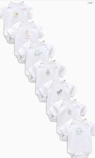 Next UK Baby Rompers 7packs