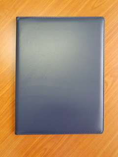 Certificate A4 Holder (Dark Blue Synthetic Leather)