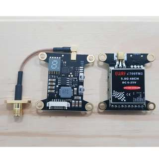 EWRF E709TM3 (MMCX) 5.8G 48CH ADJUSTABLE POWER FPV VTX WITH OSD & SMART AUDIO SUPPORT